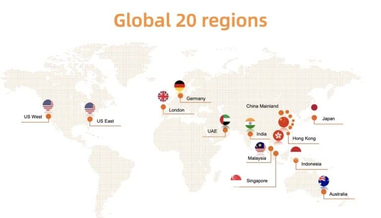 Global deployment in 20 regions for Alibaba Cloud Container Service