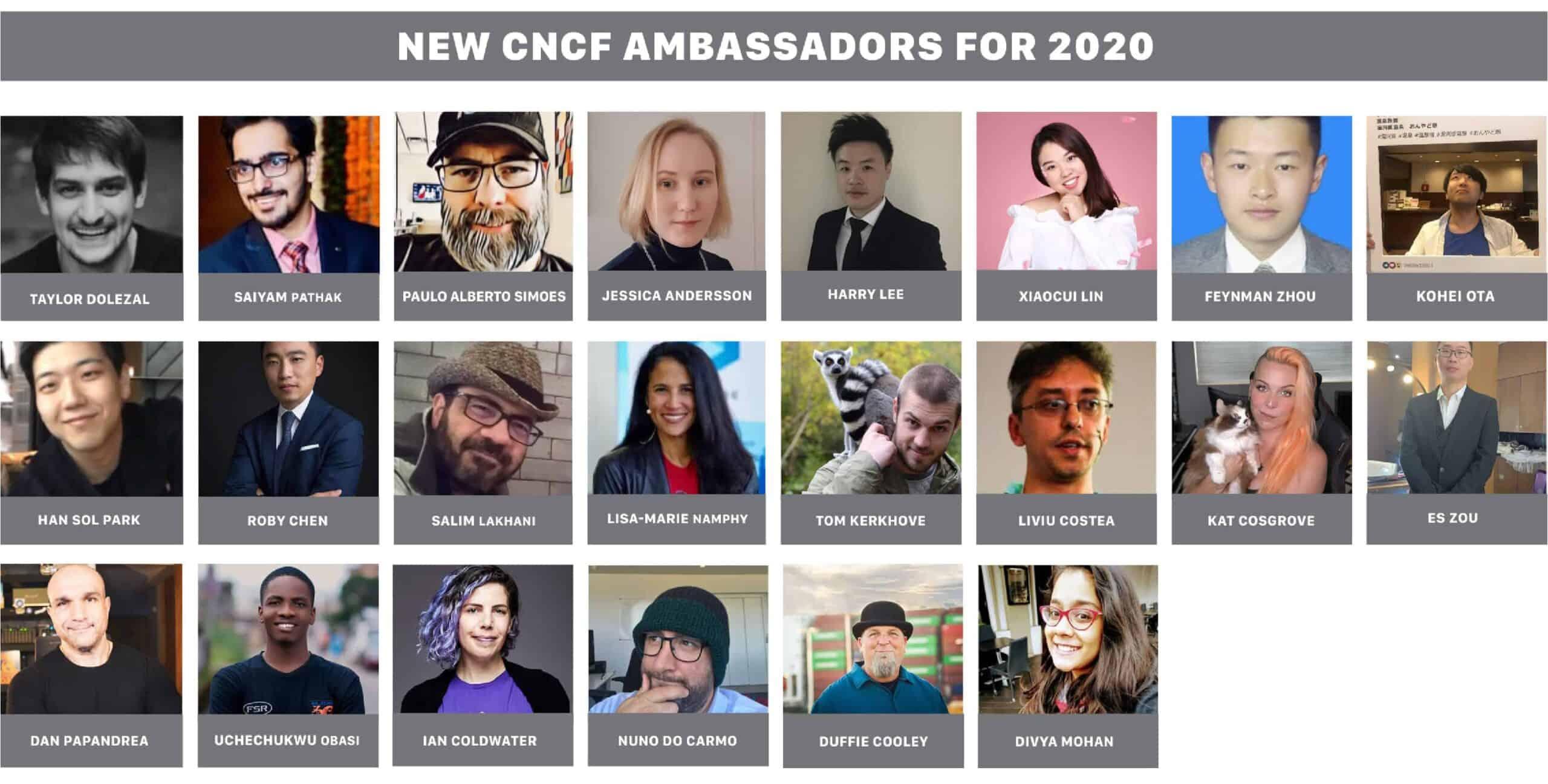 New ambassadors for 2020